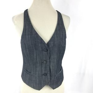 Chambray Denim Racer Back Vest